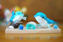 まゆ玉工作教室 イルカの人形