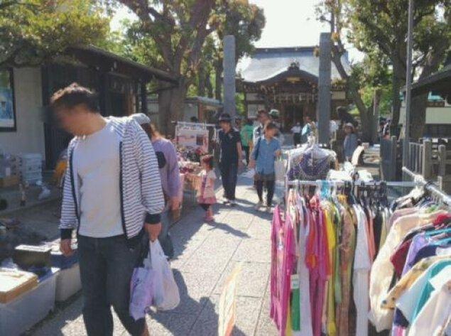 横浜天王町「橘樹神社」フリーマーケット(4月)