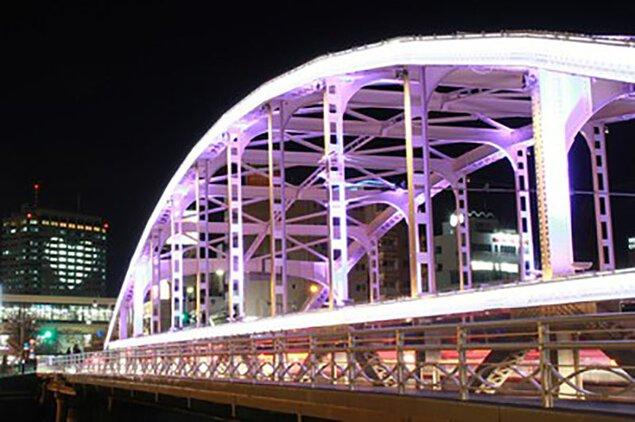 冬の開運橋ライトアップ 開運橋