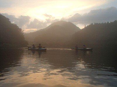 夏の夕涼みカヤック体験 碓氷 軽井沢 アウトドア自然体験