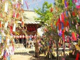 七夕神社の夏祭り