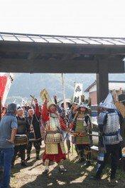 小谷城戦国歴史資料館前広場