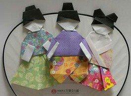 折り紙で古代の人形を作ろう!
