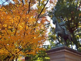 有栖川宮記念公園の紅葉