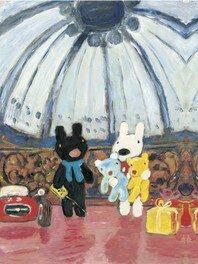 展示会メインビジュアル『リサとガスパール  デパートのいちにち』原画 油彩 2003年