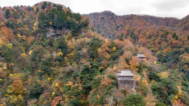 三徳山の紅葉