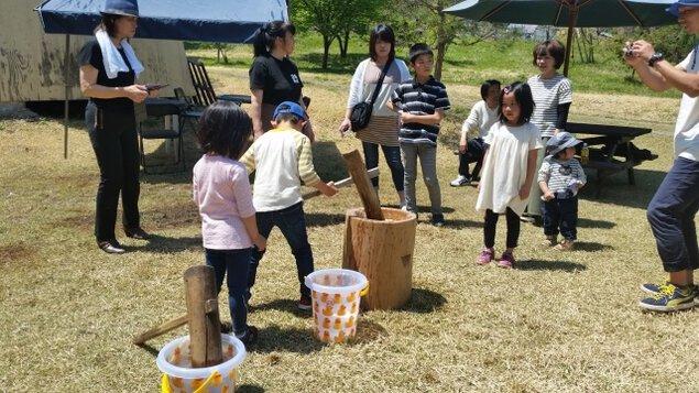 會津いろり山オートキャンプ場GWイベント2019「大型DIY&餅つき」