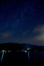 ストロベリームーンの日 美味しいスイーツを食しながら、幸せGET! 星空(夜)の散歩湖面