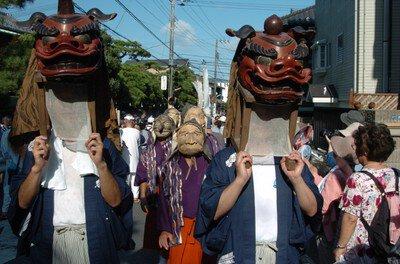 御霊神社例祭(面掛行列)