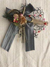 手作りハーブの正月飾り