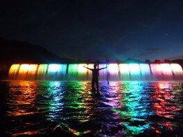 錦秋湖大滝サマーLIGHTフェスティバルinにしわが