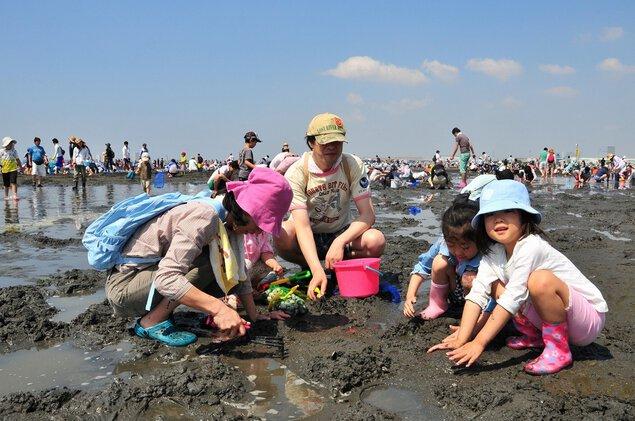 三番瀬海浜公園 潮干狩り