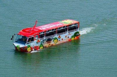 水陸両用バスで行くYAMBAダックツアー