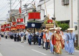 須坂祇園祭 天王おろし 笠鉾巡行