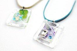 UVレジン+ガラスのアクセサリー作り
