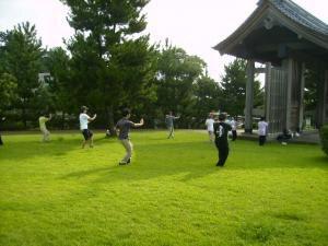石橋記念公園健康づくりイベント「太極拳」体験(8月)