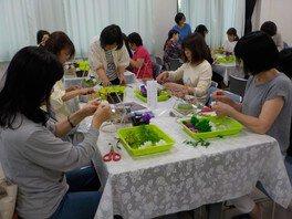 アトリエkeiの染色手作りプリザーブドフラワー教室(8月)