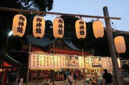 建部神社六月灯