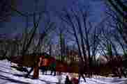 雪上ナイトハイキング