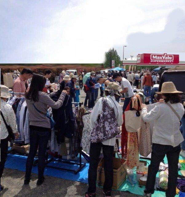 イオンタウン富雄南フリーマーケット(4月)