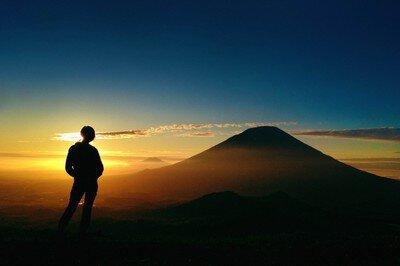 ルスツリゾート 夕陽トレッキング