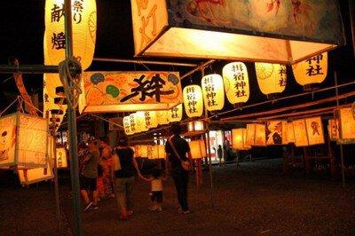 揖宿神社六月灯