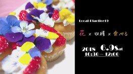花×収穫×食べる
