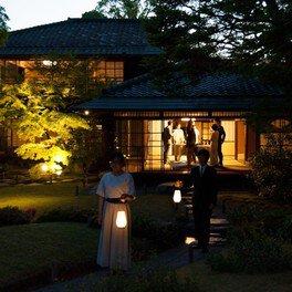 お香薫る夏のてぶら夜カフェ-京都の限定公開の日本庭園で冷抹茶をどうぞ-