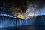 白糸の滝・真冬のライトアップ