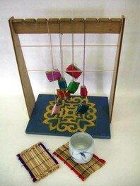 夏休み博物館その2 ござ編み体験