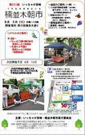 いっちゃが宮崎・楠並木朝市(8月)