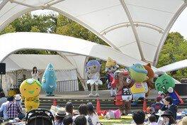 徳島県内のゆるキャラたちも登場