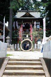 勝呂神社 茅の輪くぐり
