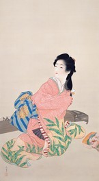 繊細な筆遣いで描かれた上村松園の「娘深雪」 ※作品画像の転載ならびにコピー禁止