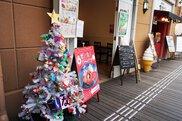 箕面市こども会&館内ワークショップオリジナルクリスマスツリー展示