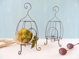 暮らしを可愛く彩る ワイヤークラフトでつくる 鳥かごとミモザのインテリア