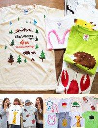 夏休みイベント! 世界で1枚のTシャツ・バッグ・エプロンをつくろう!