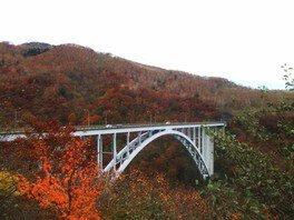霧降高原の六方沢の紅葉