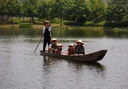川舟乗船体験(なかがわ水遊園)