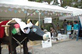 長野県信濃美術館ワークショップ 善光寺びんずる市「布引き牛をつくろう」