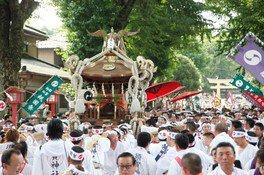 須賀神社、JR小山駅西口近辺、県道粟宮喜沢線の一部