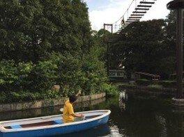 日本モンキーセンター ボート体験