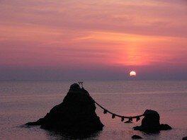 夫婦岩の日の出