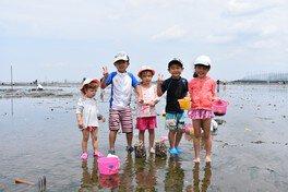 江川海岸の潮干狩り
