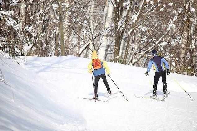 歩くスキー100kmコンペ