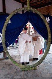 伊太祁曽神社 茅輪祭(輪くぐり)