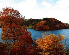 三河湖の紅葉