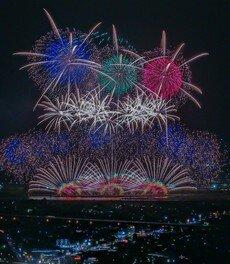 「令和」改元記念 第32回やつしろ全国花火競技大会