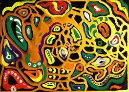 臨床美術ワークショップ「色のアラベスク」