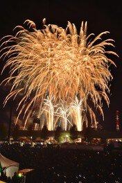 市民まつりのフィナーレを飾る花火